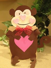 My First Grade Backpack: Monkey Valentine Holders
