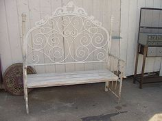 Bench Made With Vintage Iron Headboard $200 | Flickr - Photo Sharing!
