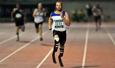Oscar Pistorius … the first amputee ever to compete with able-bodied runners in the Olympics
