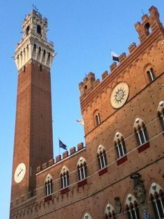 Torre del Mangia in the Piazza del Campo-Siena, Italy.  My favorite Italian city.