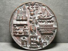 50.Jahre Königsberger Zeitung 1925 Medaille - Hochrelief - Bronze - 219,3g -83mm