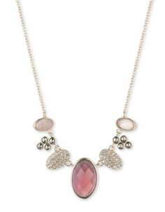 Judith Jack Crystal, Marcasite, Mother-of-Pearl and Sterling Silver Ne