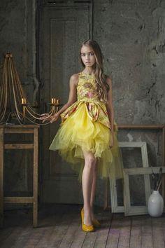 Anastasia bezrukova in yellow dress