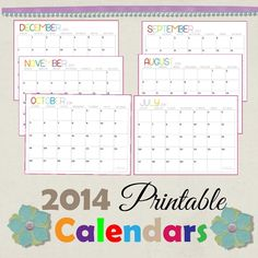 Calendar Templates - Great way to stay organized throughout the summer months. Print off and track workouts / events / BBQ's etc.