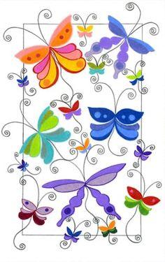 Springtime butterfly art.