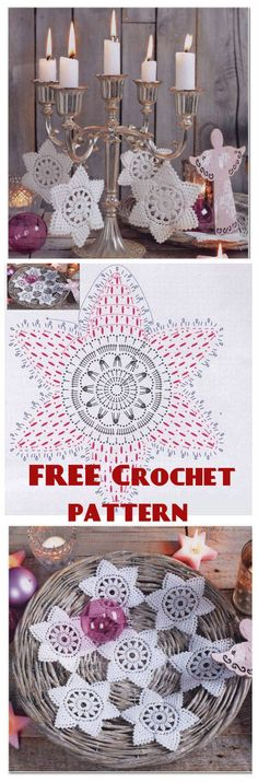 Snowflake FREE Crochet Pattern with written instructions