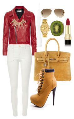 """""""#Sexy"""" by queenthefullest on Polyvore featuring BKE core, Yves Saint Laurent, River Island, Lacoste, Alexis Bittar, Hermès, Ray-Ban and Dolce&Gabbana"""