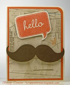 Paper and Fiber Arts: Cricut Artiste Word Balloons Cards Mustache Cards, Balloon Words, Hand Stamped Cards, Cricut Cards, Heart Cards, Close To My Heart, Cardmaking, Birthday Cards, Balloons