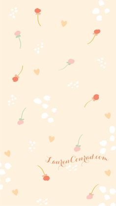 Festive Florals iPhone Background