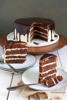 ... Chocolate Cake (Stout Cake with Whiskey Glaze, Whiskey Cream Cheese