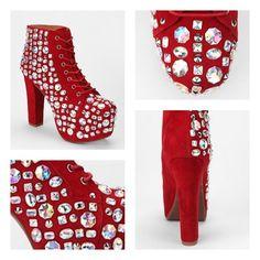 Jeffrey Campbell x UO Red Royal Jewel Lita