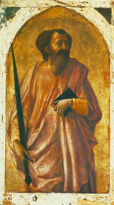 Various panel paintings. St Paul, 1426. Tempera on wood, 51 x 30 cm. Museo Nazionale, Pisa.