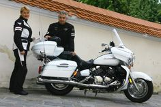 White and black design of textile jackets and pants. Made-to-fit!