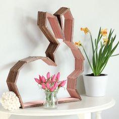 DIY Modern Bunny Decor Made From Popsicle Sticks DO a CROSS