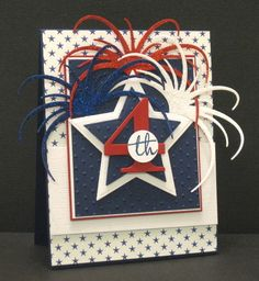 Crooked Card Creations - Home  Love this fireworks die, gonna have to have it.