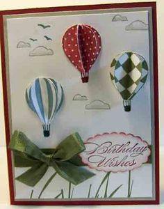 Crafty Maria's Stamping World: Hot Air Balloon Birthday - The Friday Mashup #16 wins challenge