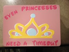 "Little girl's time out chair. ""even princesses need a time out"" used waltograph font and crown from cricut explore. House Projects, Projects To Try, Time Out Chair, Girls Time, Diy Chair, Wood Ideas, My Little Girl, Cricut Explore, Future Baby"