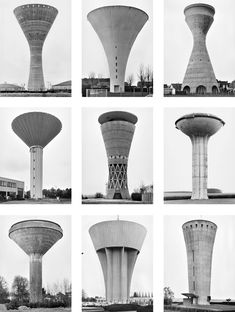 Architectural Drawing Hilla and Bernd Becher - fotografia industrial del periodo moderno. Industrial Architecture, Concept Architecture, Landscape Architecture, Interior Architecture, Bernd Und Hilla Becher, Labo Photo, Design Jobs, Brutalist Buildings, Industrial Photography
