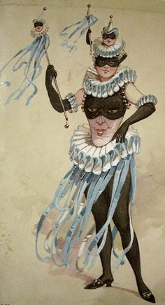 Theatrical costume design for a female Jester by C.great comedy dell arte or circus pierrot costume Pierrot Costume, Pierrot Clown, Theatre Costumes, Ballet Costumes, Clowns, Costume Venitien, Victorian Fancy Dress, Illustration Art, Illustrations