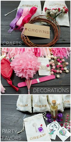 3 easy steps and you're on your way to creating the perfect fairy party! www.psxo.com