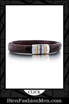 Mens Leather Cuffs | Mens Bracelets | Mens Jewelry | Mens Accessories | Bracelets on Men | Mens Jewelery | Shop Now ♦ J.Goodman Sterling Silver/18k Gold Black Diamond Bracelet $665.00