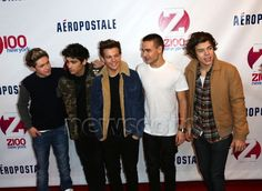 One Direction on Z100's Jingle Ball Red Carpet, 7.12.12.