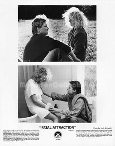 Fatal Attraction Press Kit Photo Michael Douglas, Glenn Close