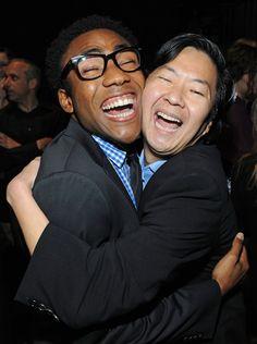 Ken Jeong and Donald Glover (aka, Childish Gambino)