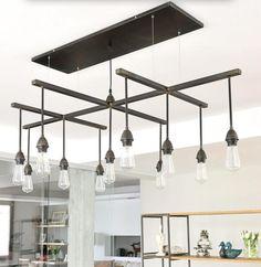 Pendente incrivel!!! A rusticidade do material em um design todo moderno!!