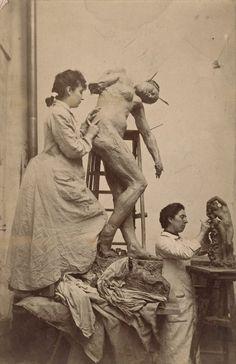 Καμίλ Κολοντέλ και Τζες Λίπκομπ στο στούντιό τους