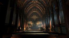 Dark Fantasy Throne Room Art