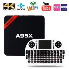 Макс 2 ГБ RAM + 16 ГБ ROM NEXBOX A95X Smart Android TV Box Android 6.0 S905X Amlogic Quad core 64Bit WiFi 4 К HD Медиа-Плеер PK X96