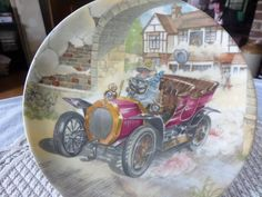 Wedgwood plate Wind in the willows Toad Car by MaddisonsRainbow Bullseye Glass, Square Plates, Fused Glass Art, Beautiful Wall, Wedgwood, Toad, Bone China, Handmade Crafts, Decorative Plates