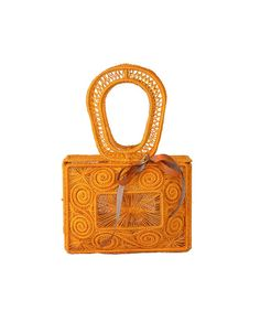 c80b44a96622 Boxed shaped straw bag features an intricate weave
