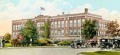 Clara Barton Jr High School (originally,  Royal Oak High School) was demolished in the late '70's to make room for Barton Towers--a senior citizens complex. #royaloak #school