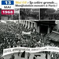 Le 13 mai 1968, la France connait la plus grande grève de son histoire : plus de 7 millions de personnes arrêtent le travail ! Tout au long du mois de mai 1968 la France connaît une vaste révolte spontanée dirigée contre la société traditionnelle. Initiée par les étudiants, elle s'étend rapidement à toutes les catégories de population. Ce mois de mai 1968 marque une rupture profonde et durable dans les rapports sociaux en France, notamment par l'affirmation de la jeunesse
