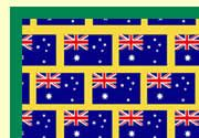 FREE printable letters (upper and lower case) and numbers for classroom display with the Australian flag pattern on them.