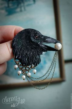 Hey, I found this really awesome Etsy listing at https://www.etsy.com/listing/387566844/raven-brooch