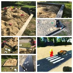 Paint the sides of the sandbox with outdoor house paint. Kids love to participate before and after. Outdoor House Paint, Sandbox, House Painting, Hot Wheels, Kids, Litter Box, Young Children, Boys, Sand Pit