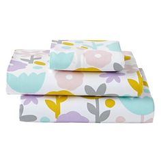 Organic Floral Suite Toddler Sheet Set