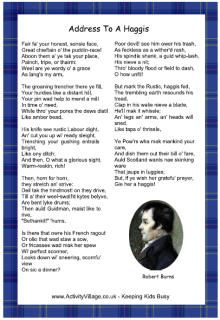 Here's a useful printable version of Robert Burn's classic poem, Address to a Haggis. Print it out for your Burns Night dinner! Burns Night Poem, Robbie Burns Night, Burns Night Quotes, Burns Night Activities, Burns Night Crafts, Elderly Activities, Scottish Poems, Scottish Sayings, Burns Night Recipes