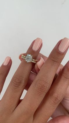 Oval Solitaire Engagement Ring, Beautiful Engagement Rings, Diamond Wedding Rings, Classic Engagement Rings, Wedding Ring With Band, Wedding And Engagement Rings, Engagement Rings White Gold, Oval Shaped Engagement Rings, Wedding Bands
