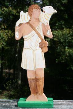 The Good Shepherd Wood Figure by soodow on Etsy