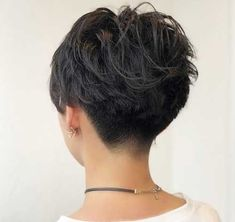 Undercut Wavy Pixie for Thick Hair hair wavy 60 Classy Short Haircuts and Hairstyles for Thick Hair Thick Hair Pixie, Short Hairstyles For Thick Hair, Short Pixie Haircuts, Short Hair Cuts For Women, Curly Hair Styles, Short Wavy Pixie, Style Short Hair Pixie, Pixies For Thick Hair, Thick Short Hair