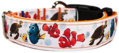 Dog Collar inspired by Disney's Finding Nemo and Dory