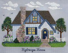 Secret Garden Collection, needlepoint house