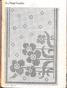 Szydełkomania: Magiczny ogród Doily Patterns, Easy Crochet Patterns, Crochet Designs, Filet Crochet Charts, Knitting Charts, Knitting Patterns, Yarn Thread, Thread Crochet, Crochet Curtains