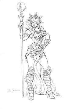 Evil Lyn Sketch Masters of the Universe