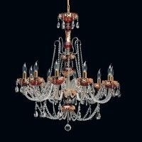 Tomia L 506/10/3 High Enamel Penelope 10-Light Crystal Chandelier