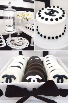 Coco Chanel Inspired Dessert Table {30th Birthday}